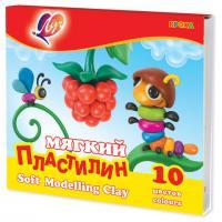 """Пластилин классический ЛУЧ """"Кроха"""" 10 цв, 165г, со стеком"""