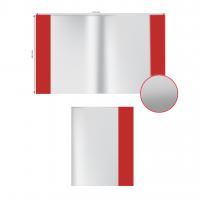 """Обложка ПВХ А5+ (233х455мм) """"Alingar"""" для учебника и дневника, универсал., цветной клапан"""