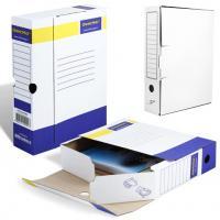 Накопитель документов, Лоток-коробка А4, белая, 75мм (700л)