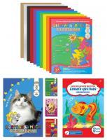 """Цветная бумага ArtSpace """"Волшебная"""" А4 10цв., 18л"""