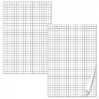 Блокнот для флипчарта 60х90см, 20л., клетка, микроперфорация, 80гр
