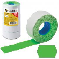Этикет-лента 26х16мм, 800шт. зеленая, фигурная (волна)
