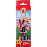 Карандаши цветные Koh-I-Noor набор 18 цв., заточенные