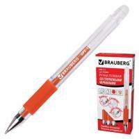 "Ручка гелевая Brauberg ""GPE-111"" 0,5мм, красная, стираемые чернила"