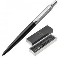 """Ручка подарочная шариковая PARKER """"Jotter Core Bond Street Black"""" черн.корп, хром.дет, синяя"""