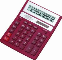 Калькулятор КРАСНЫЙ Citizen SDC-888XRD, две памяти, 12 разрядов, 203х158мм