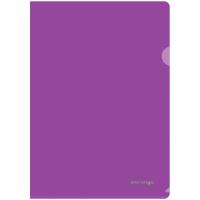 Папка-уголок A4, жесткая, фиолетовая полупрозрачная