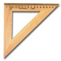 Треугольник деревянный 45°, 180мм, арт.УЧД 45х180, С15