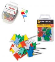Булавки-флажки Brauberg, Berlingo, маркировочные, цветные, 50шт.