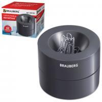 """Скрепочница магнитная """"Brauberg 225191"""", с контейнером для скрепок, + 30 скрепок в комплекте"""