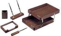 """Настольный набор деревянный GALANT """"Glory"""", 5 предметов, орех"""