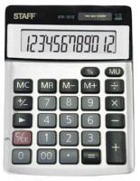 Калькулятор STAFF STF-1212, металлическая панель, 12 разрядов, 140х105мм