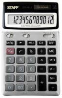 Калькулятор STAFF STF-1612, металлическая панель, 12 разрядов, 175х107мм