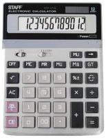 Калькулятор STAFF STF-1712, металлическая панель, 12 разрядов, 200х152мм