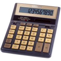 Калькулятор ЧЁРНО-ЗОЛОТОЙ Citizen SDC-888TIIGE, две памяти, 12 разрядов, 203х158мм