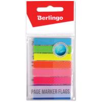 Закладки-флажки Berlingo самоклеящиеся 45*8мм, 8цв.*20л., неоновые цветные