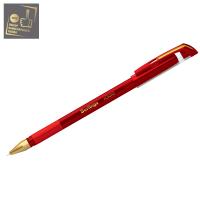 """Ручка шарик. Berlingo """"xGold"""" 0,7мм, красная, игольчатый стержень,на масляной основе, грип"""