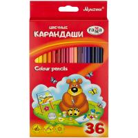 """Карандаши цветные Гамма """"Мультики"""" набор 36 цв., трехгран.,заточенные"""