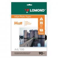 Фотобумага LOMOND для струйной печати А4, одн/мат, 90 г/м2, 100л