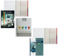 """Тетрадь А4 160л. Хатбер """"Ноутбук, ColourLine"""", разделители, спираль, клетка, обложка 7БЦ, с карманом"""