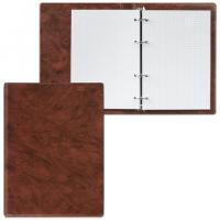 Тетрадь на кольцах А5 ДПС, 90л, 140*205мм, клетка, обложка ПВХ, коричневый