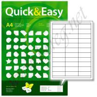 "Самоклеящиеся этикетки ""Quick&Easy"" 70мм х 25,4мм х 33шт. на листе, 100 листов"