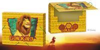 """Папка для тетрадей пластиковая Disney """"Король лев"""" на резинках, торец 2,5 см"""