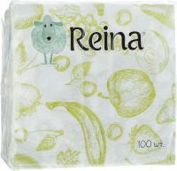 Салфетки бумажные Рейна 100шт., фрукты