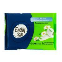 Бумага туалетная, влажная Emily Style, 30шт