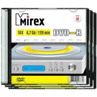 "Диск DVD-R (минус) 4,7Гб ""Mirex"", тонкий/слим (записываемый)"