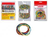 Резинки банковские цветные, 100гр./уп., диаметр 60мм, 180шт.