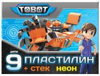 "Пластилин EC ""Tobot"" неон 9 цв,108 г"