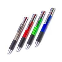 """Ручка шарик. автом. Alingar """"Poly-colors"""" 4-х цветная 0,7 мм (синий, черный, зеленый, красный)"""