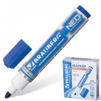 Маркер для белой доски, синий (на водной основе), круглый наконечник