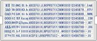 Касса букв и цифр дополнительная (6006), крепление с двумя ножками