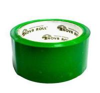"""Скотч """"Nova Roll, Unibob"""", 48мм х 66м, упаковочный (50мкм), зеленый"""