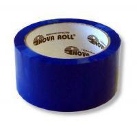 """Скотч """"Nova Roll, Unibob"""", 48мм х 66м, упаковочный (50мкм), синий"""