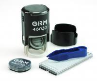 Штамп самонаборный GRM R30/1 (46030/1), круглый (1 круг без микротекста), + 1 касса и пинцет