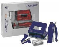 """Набор подарочный """"Kangaro - Stat. Set Big"""" (дырокол DP-485, степлер Vertika-45, скоборасшиватель SR-45, скоба №24/6)"""