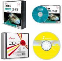 """Диск CD-RW 700мБ """"Mirex, SmartTrack"""", 4-12х, слим"""