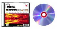 """Диск DVD+R DS (плюс) 9,4Гб """"Mirex"""", 8х, двухсторонний, слим"""