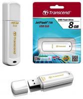 Флэш-диск 8ГБ, USB 3.0 Transcend 730, белый