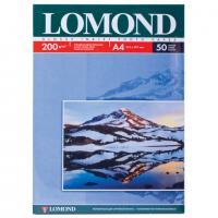 Фотобумага LOMOND для струйной печати А4, одн/глянц, 200г/м, 50л