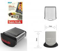 "Флэш-диск 16ГБ, USB 3.0 SanDisk ""Cruzer Ultra Fit"", размер 20х15мм"