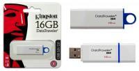 "Флэш-диск 16ГБ, USB 3.1 Kingston ""Data Traveler G4"", белый"