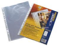 Файлы А4+, Expert Complete, прозрачные, плотные (42мкм), гладкие, 100шт/уп.