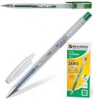 "Ручка гелевая ""G11, Zero, Jet"" 0,5мм, зеленая"