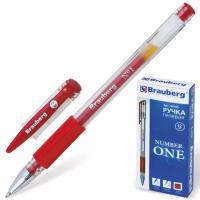 """Ручка гелевая """"HJR-500R"""", """"Number One"""", 0,5мм, красная, грип"""