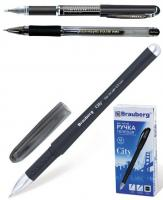 """Ручка гелевая """"Impulse, City, HJR-500RN"""" 0,5мм, черная, игольчатый наконечник, грип"""