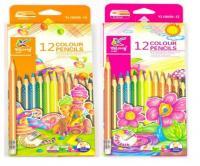 """Карандаши цветные Yalong """"Magic"""" набор 12 цв., трехгранные с ластиком"""